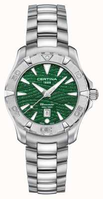 Certina Esfera verde brillante ds action para mujer C0322511109109