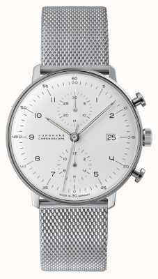 Junghans Cronoscopio Max Bill | correa de malla de acero | 027/4003.48