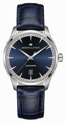 Hamilton Jazzmaster   auto   correa de cuero azul   esfera azul H32475640