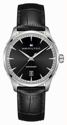 Hamilton Jazzmaster   auto   correa de cuero negro   esfera negra H32475730