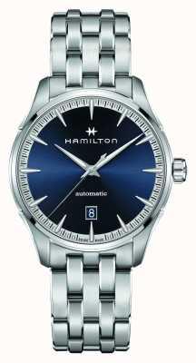 Hamilton Jazzmaster | auto | pulsera de acero inoxidable | esfera azul H32475140