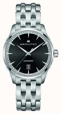Hamilton Jazzmaster   auto   pulsera de acero inoxidable   esfera negra H32475130