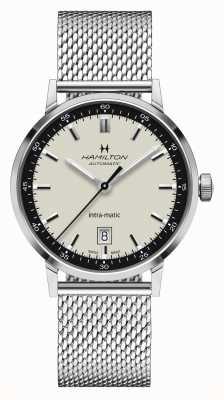 Hamilton Clásico americano | intra-matic | pulsera de malla de acero | esfera blanca H38425120