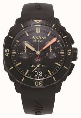 Alpina Seastrong diver 300 | cronógrafo | correa de silicona negra AL-372LBBG4FBV6