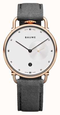 Baume & Mercier Baume | cuarzo ecológico | esfera blanca | correa con respaldo de corcho gris M0A10600