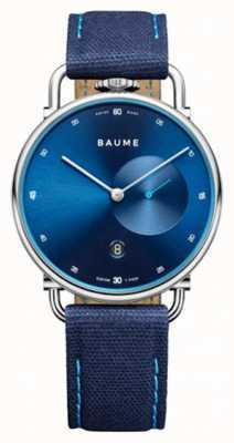 Baume & Mercier Baume | cuarzo ecológico | esfera azul | correa con respaldo de corcho azul M0A10601