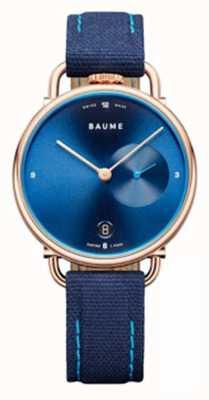 Baume & Mercier Baume | cuarzo ecológico | correa con respaldo de corcho azul M0A10603