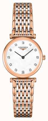 Longines Mujeres | la grande classique | esfera de diamantes | pulsera de acero de dos tonos L42091977