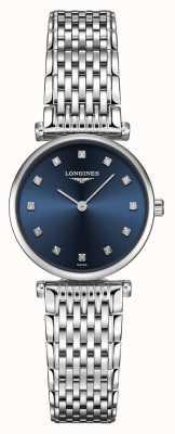 Longines Mujeres | la grande classique | esfera azul diamante | acero inoxidable L42094976