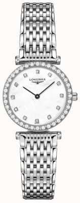 Longines Mujeres | la grande classique | esfera blanca diamante | acero inoxidable L43410806