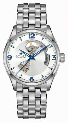 Hamilton Jazzmaster   automático   corazón abierto   acero inoxidable H32705152