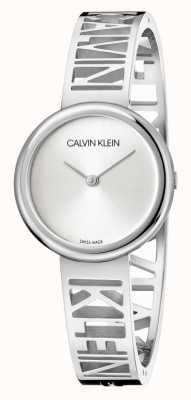 Calvin Klein Mania | pulsera de acero inoxidable | esfera plateada | talla M KBK2M116