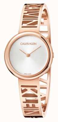 Calvin Klein Mania | acero pvd oro rosa | esfera plateada | talla M KBK2M616