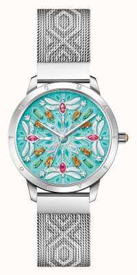 Thomas Sabo Glam y alma | pulsera de malla de acero para mujer | esfera de libélula de piedras preciosas WA0368-201-215-33