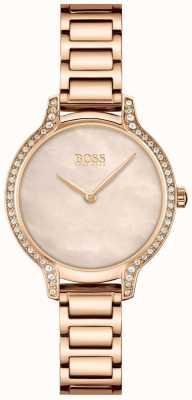 BOSS | gala | mujer | pulsera de oro rosa | esfera de perlas de oro rosa | 1502556