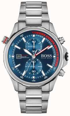BOSS | trotamundos | hombres | pulsera de acero inoxidable | esfera azul | 1513823