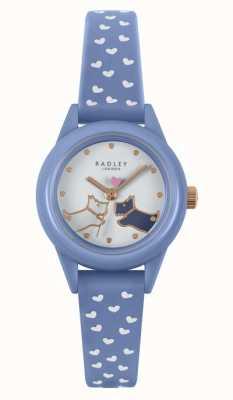 Radley ¡Míralo! | correa de silicona azul para mujer | esfera blanca RY21260