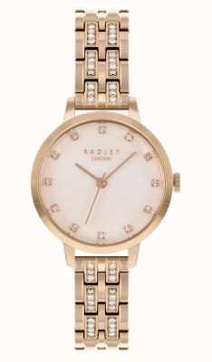 Radley | mujer | pulsera chapada en oro rosa | esfera blanca | RY4560