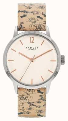 Radley | mujer | correa de piel estampada beige | esfera blanca | RY21245A