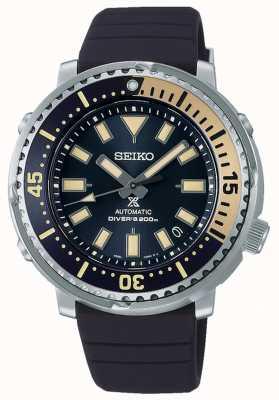 Seiko Prospex | serie de la calle edición safari de atún | correa de silicona azul | esfera azul SRPF81K1
