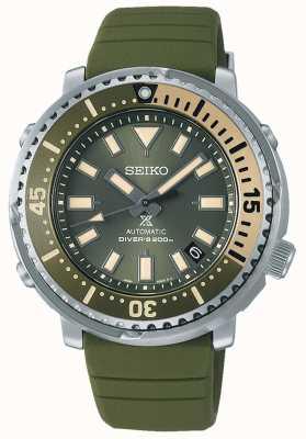 Seiko Prospex | serie callejera mini edición safari de atún | correa de silicona verde | SRPF83K1