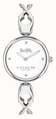 Coach Caroll | brazalete de acero inoxidable para mujer | esfera blanca 14503750