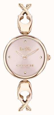 Coach Caroll | brazalete de mujer en oro rosa | esfera rosa 14503751