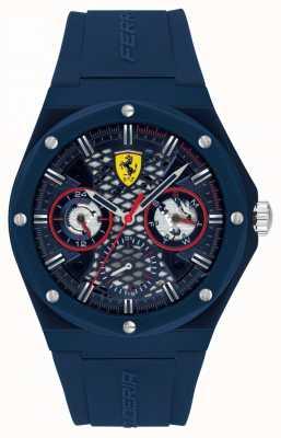 Scuderia Ferrari Aspire | correa de silicona azul para hombre | esfera azul 0830788