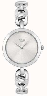 BOSS Mujeres | nueva cadena | esfera plateada | pulsera de acero inoxidable 1502590