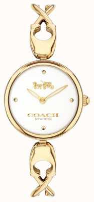 Coach Caroll | esfera blanca | acero chapado en oro pvd 14503749