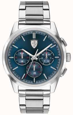 Scuderia Ferrari Gran gira | esfera azul | pulsera de acero inoxidable 0830804