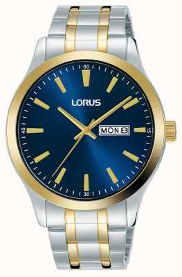 Lorus Hombres | esfera azul | pulsera de acero inoxidable de dos tonos RH342AX9