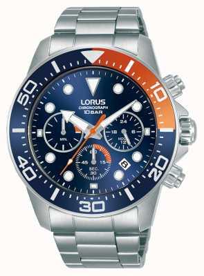 Lorus Hombres | cronógrafo | esfera azul | pulsera de acero inoxidable RT345JX9