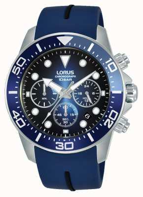 Lorus Hombres | cronógrafo | esfera azul | correa de silicona azul RT349JX9