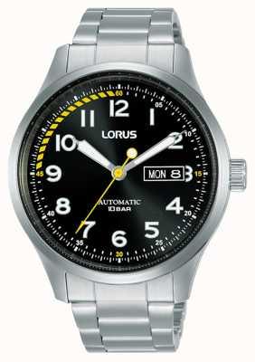 Lorus Hombres | automático | esfera negra | pulsera de acero inoxidable RL457AX9