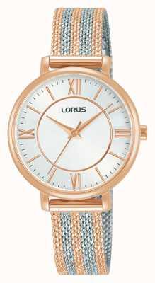 Lorus Mujeres | esfera blanca | pulsera de malla de dos tonos RG216TX9