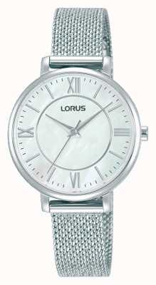 Lorus Mujeres | esfera blanca | pulsera de malla de acero inoxidable RG221TX9