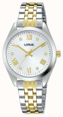 Lorus Mujeres | esfera plateada | pulsera de acero inoxidable de dos tonos RG253SX9