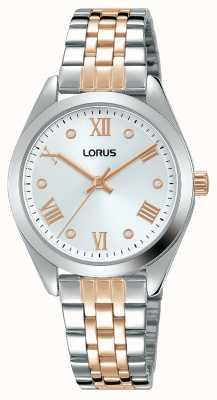 Lorus Mujeres | esfera plateada | pulsera de acero inoxidable de dos tonos RG255SX9