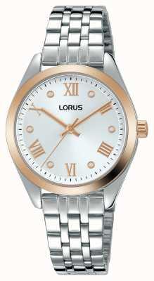 Lorus Mujeres | esfera plateada | pulsera de acero inoxidable RG256SX9