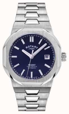 Rotary Hombres | regente | automático | esfera azul | pulsera de acero inoxidable GB05410/05