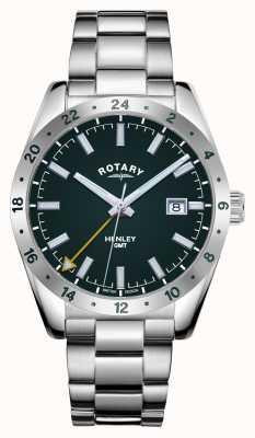 Rotary Hombres | henley | gmt | esfera verde | pulsera de acero inoxidable GB05176/24