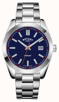 Rotary Hombres | henley | esfera azul | pulsera de acero inoxidable GB05180/05