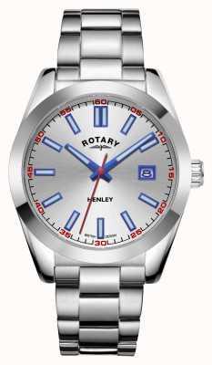Rotary Hombres | henley | esfera plateada | pulsera de acero inoxidable GB05180/59