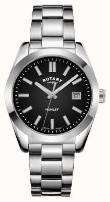 Rotary Mujeres | henley | esfera negra | pulsera de acero inoxidable LB05180/04