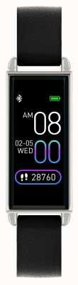 Reflex Active Reloj inteligente Serie 2 | pantalla táctil a color | correa de cuero negro RA02-2007