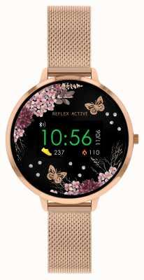Reflex Active Reloj inteligente Serie 3 | correa de malla de acero inoxidable en oro rosa RA03-4038