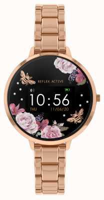 Reflex Active Reloj inteligente Serie 3 | pulsera de acero en oro rosa RA03-4012