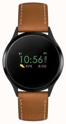 Reflex Active Reloj inteligente Serie 4 | pantalla táctil a color | correa marrón RA04-1000