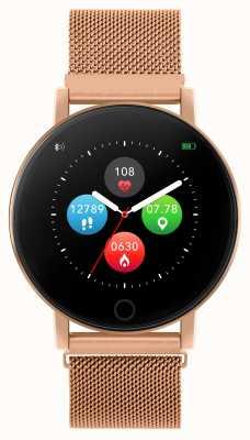 Reflex Active Reloj inteligente Serie 5 | monitor de recursos humanos | pantalla táctil a color | malla de acero de oro rosa RA05-4016
